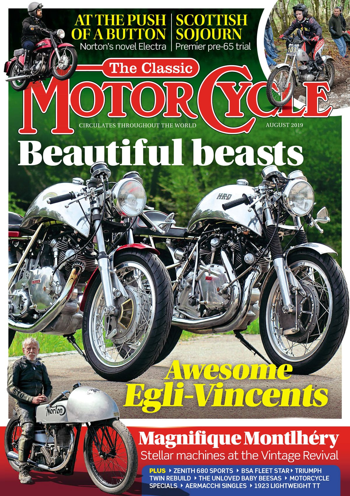 The Classic Motorcycle August cover