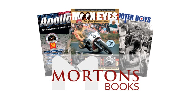 Mortons books: Moon eyes, Apollo, Scooter Boys.