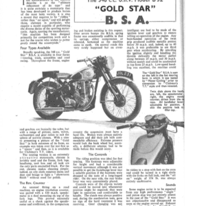 BSA Gold Star B32 348cc