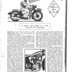 BSA B30/4 ohv Road Test