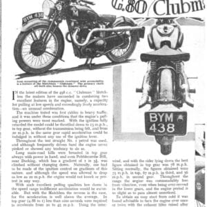 Matchless G80 Clubman Road Test